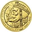 Relikvie sv. Václava - I. -  1/2 Oz zlato b.k.