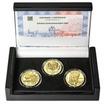 ZALOŽENÍ ČESKOSLOVENSKÝCH LEGIÍ – návrhy mince 200 Kč - sada 3x zlato b.k.