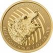 Zlatá mince Řvoucí grizzly 1 Oz 2018