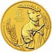 Zlatá mince Rok myši, Lunární serie III. 1/2 oz 2020