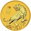 Zlatá mince Rok tygra, Lunární serie III. 1/4 oz 2022